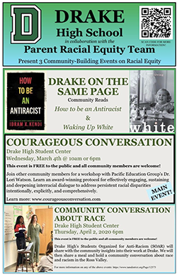 Drake Parent Racial Equity Team Events