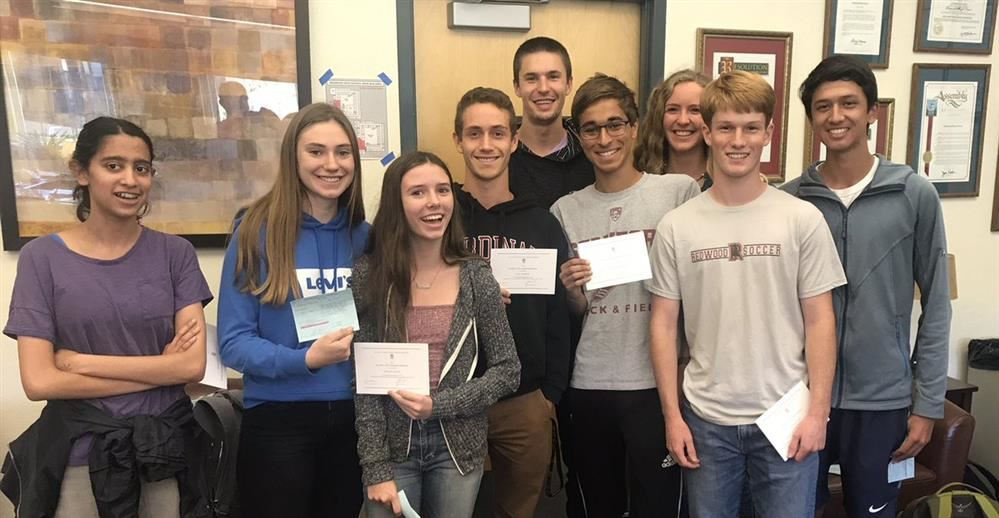 Redwood HS National Merit Semifinalists