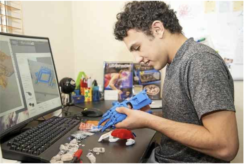 Redwood's Jaden Ramos Creates Prosthetic Limb for Overseas Patient