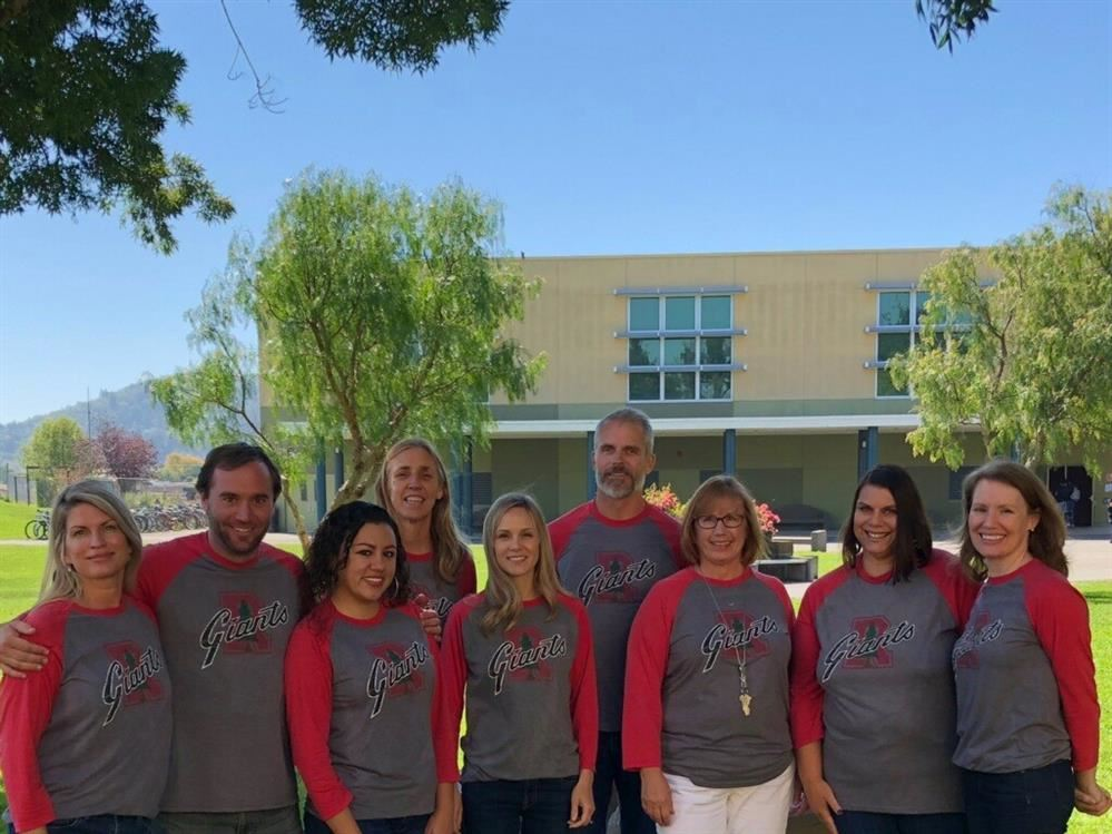 From the left:Ms. Paulsen, Mr. Scott, Ms. Fernandez, Ms. Heimbrodt, Ms. Gulden, Mr. David, Ms. Jackson, Ms. Wall, Ms. Kennedy