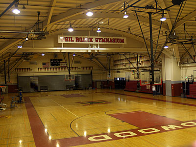 Redwood gymnasium