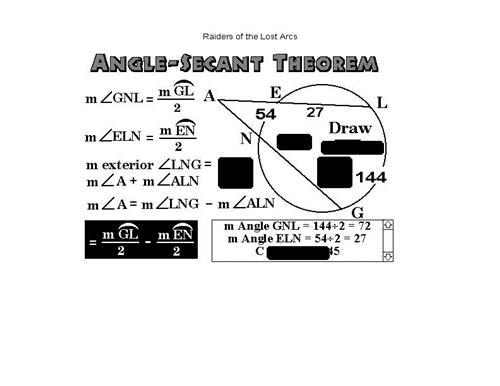 Angle Secant