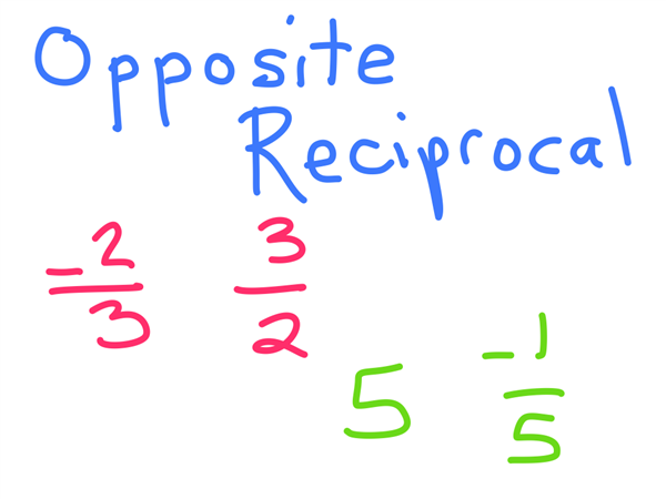 opposite reciprocals