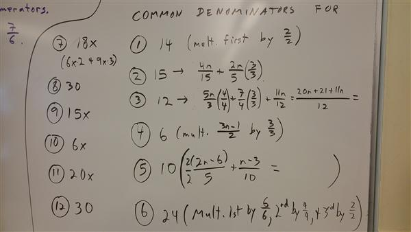 Common Denominators for PZ119
