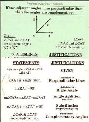 Perpendicular Pair Theorem