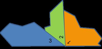 three triangle angle line