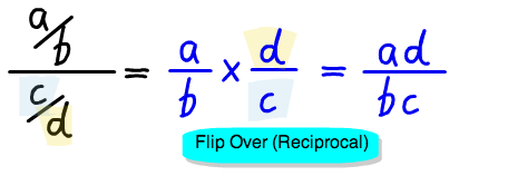multiply by denominator's reciprocal
