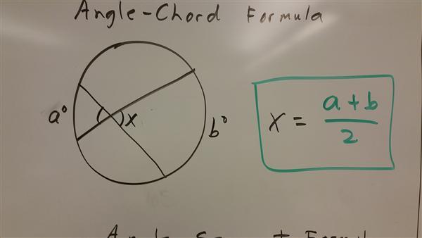 angle chord formula