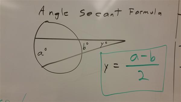 angle secant formula