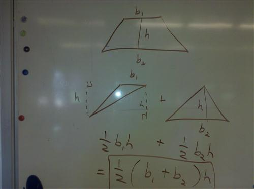 derive trapezoid area