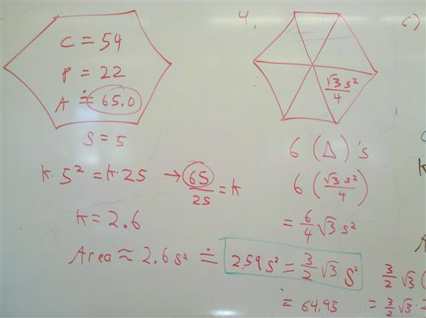 Hexagons Areas
