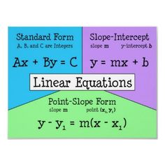 linear equation forms