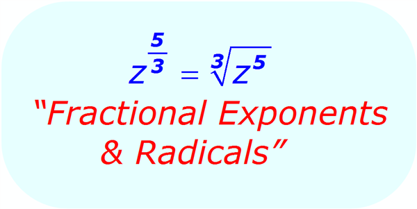 fractional exponents