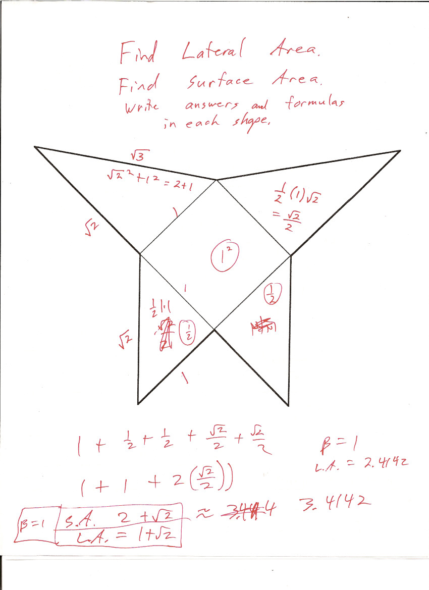 Uncategorized Surface Area Nets Worksheet gebhard curt gdownloads oblique pyramid surface area cone key