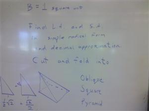 folded oblique pyramid