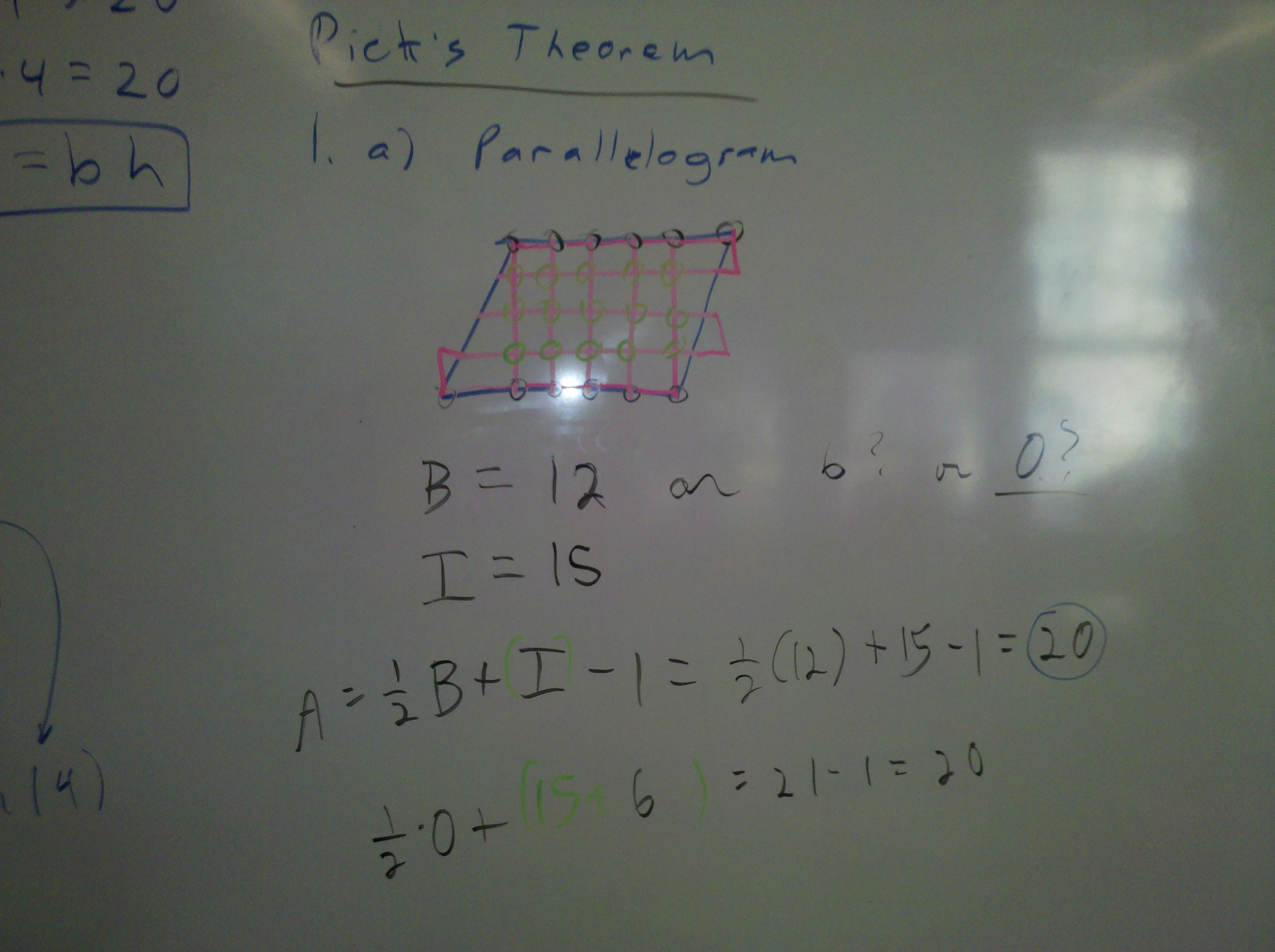 pick's parallelogram