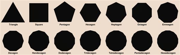polygons black