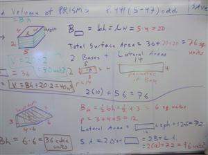 rectangular triangle volumes