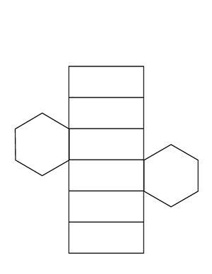 hexagonal prism net