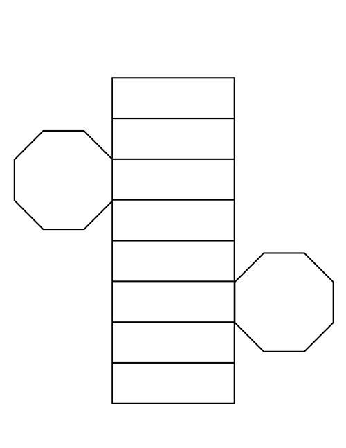 octagonal prism net