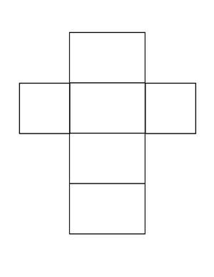 tetragonal prism net