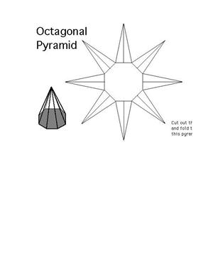 octagonal pyramid net