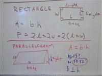 rectangle and parallelogram