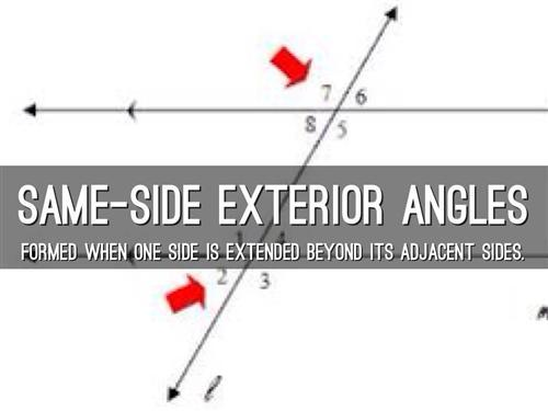 same side exterior angles