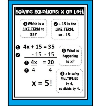 Solve x on left