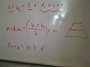 trapezoid median area