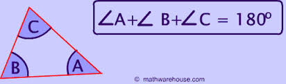 angles a+b+c=180