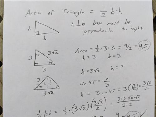 triangle grid area