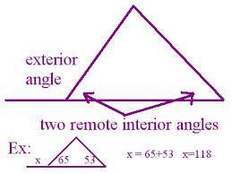 triangle exterior angle