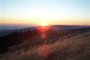 Sunset on Mt. Tam
