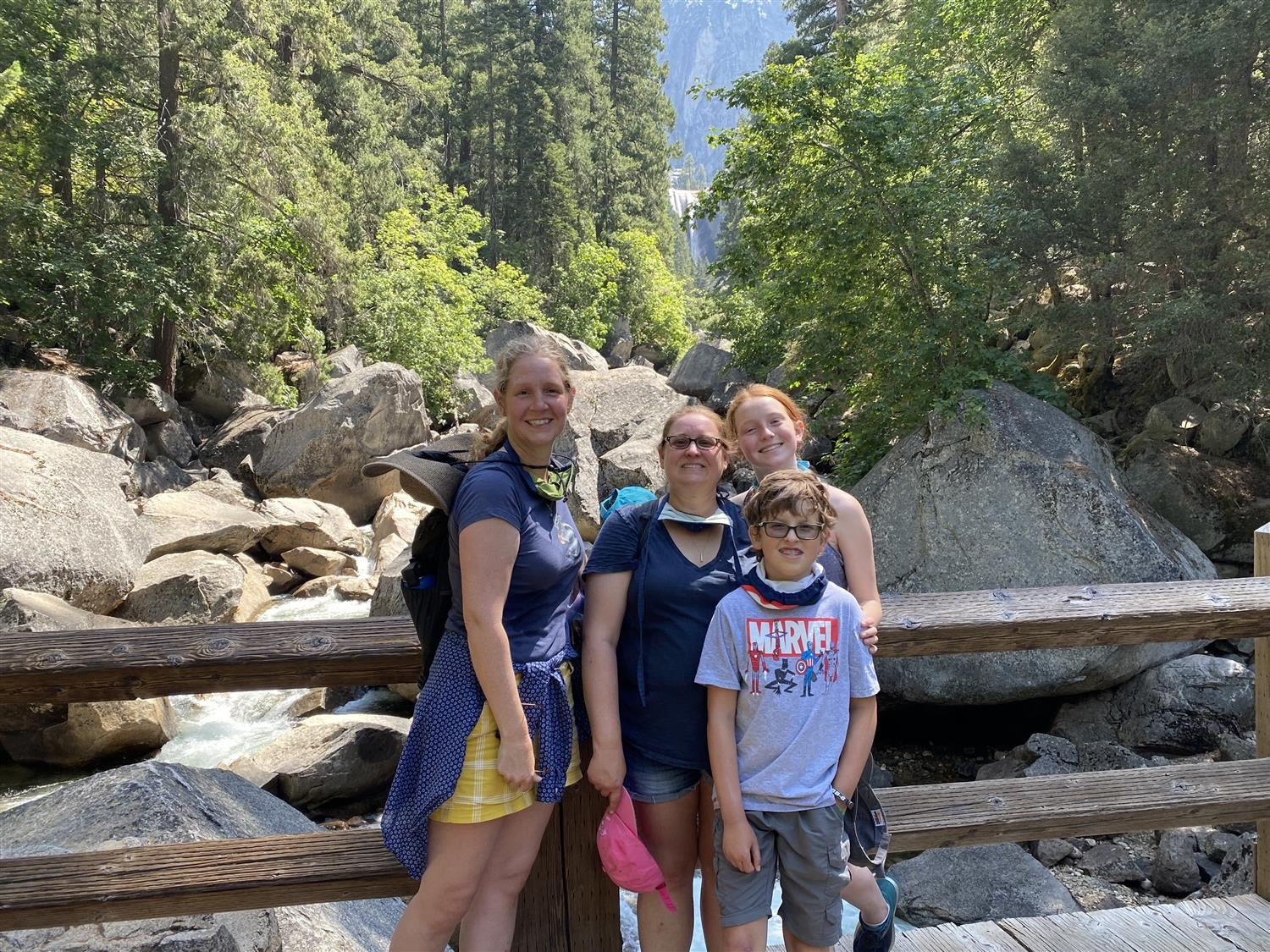 Yosemite Summer 2020 - masks pulled down for the picture!