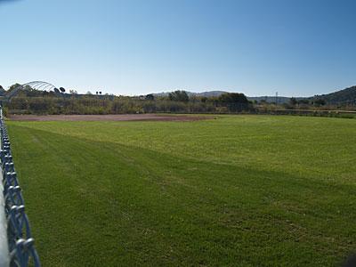 Redwood softball field