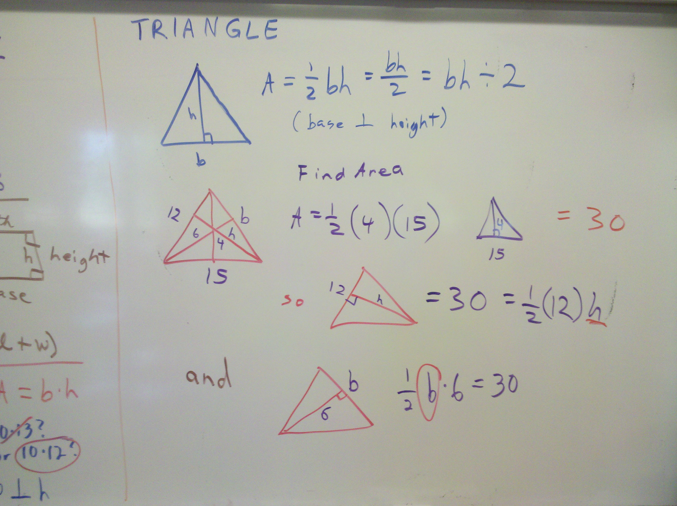 worksheet Area Of Triangles And Trapezoids Worksheet gebhard curt gdownloads parallelogram area triangle rhombus kite area
