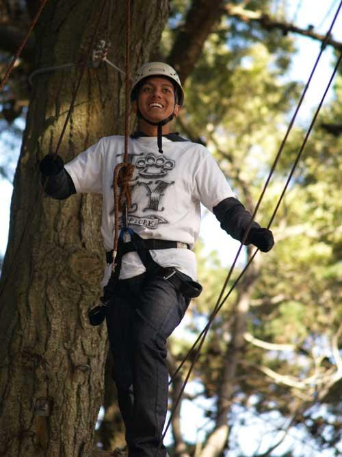 For more information about the ropes course at Fort Miley, please see this website:  http://www.plip